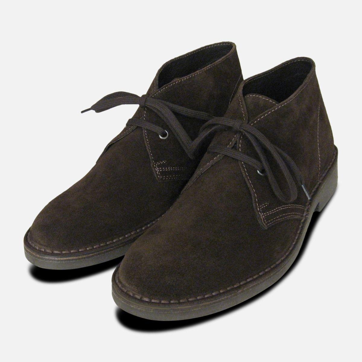8d16ec085d6 Mens Dark Brown Suede Italian Desert Boot