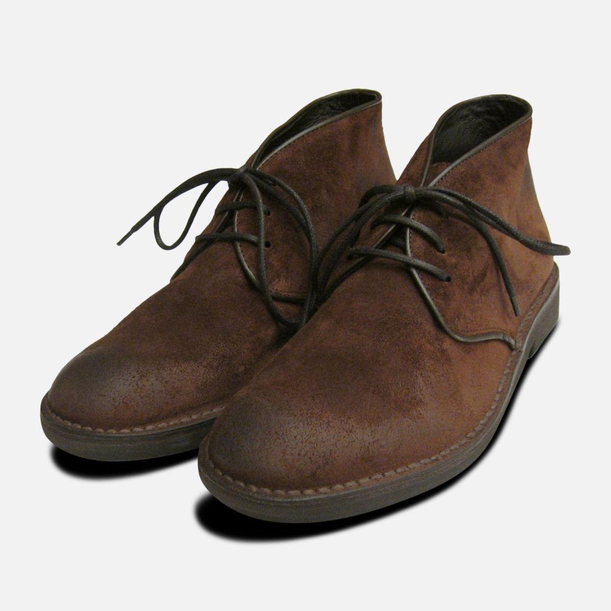Waxy Brown Mens Designer Desert Boots 00ebc8192