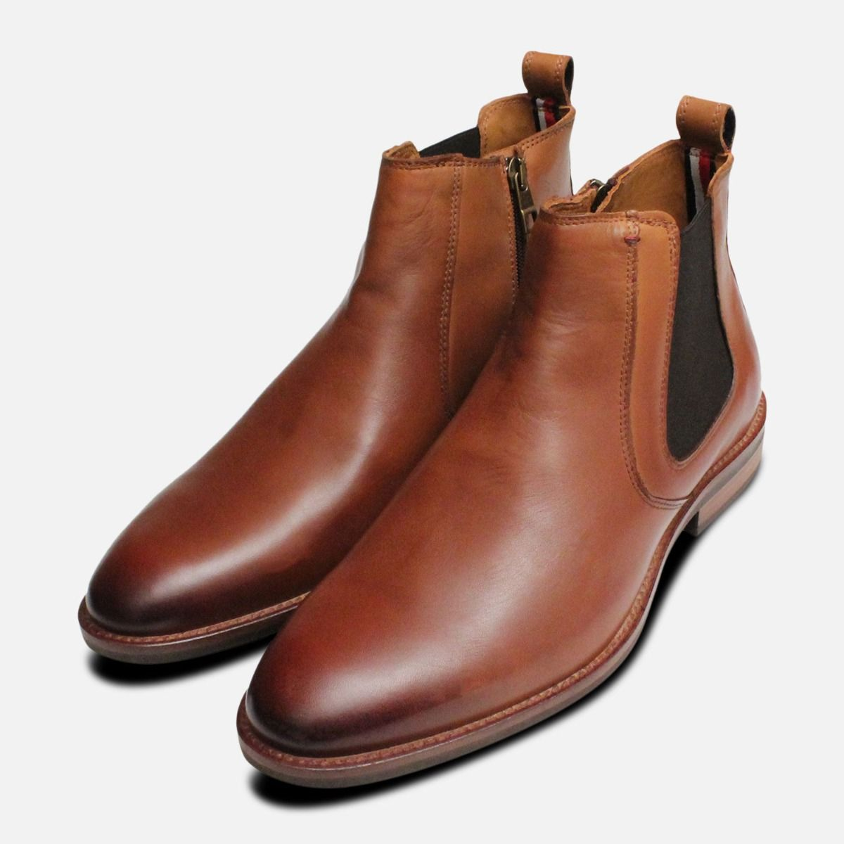 low cost 06a5a 81d83 Tommy Hilfiger Chelsea Boots Light Brown Daytona