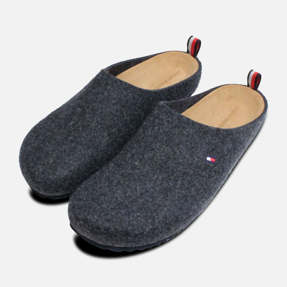 ced6c09ffb7c6 Tommy Hilfiger Donny Dark Grey Mens Slippers