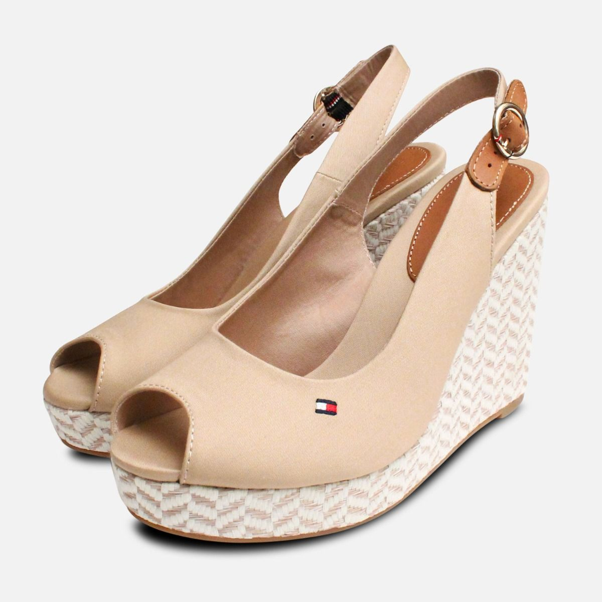 5a730e2ace9 Tommy Hilfiger Elena Platform Sand Wedge Sandals