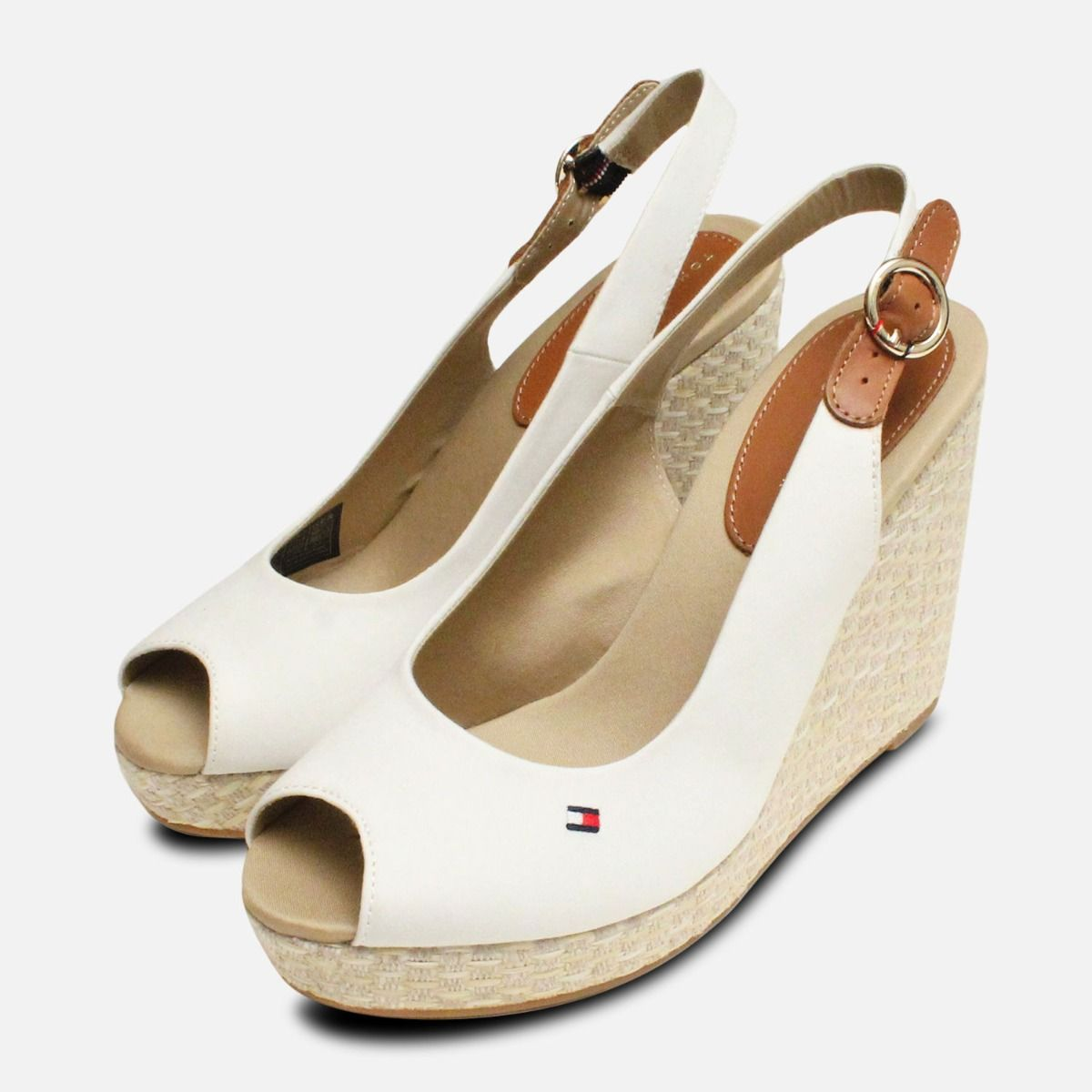 8a5ac150a898 Tommy Hilfiger Elena Platform Sandals in Whisper White