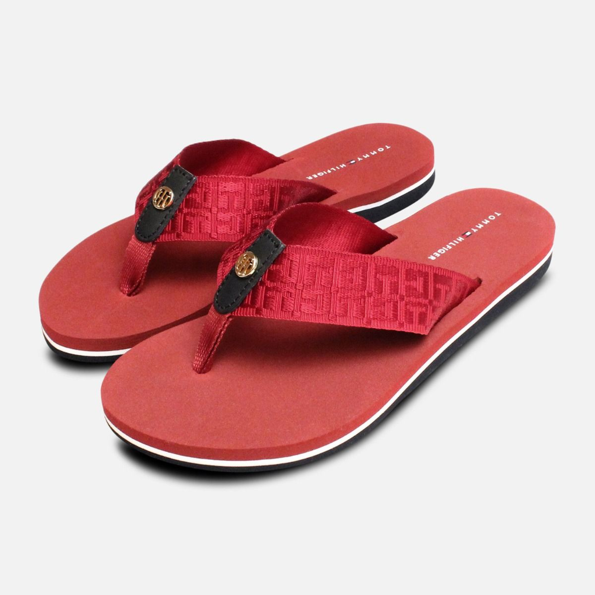 e1bd52df97287a Tommy Hilfiger Burgundy Red Mellie Flip Flop Sandals