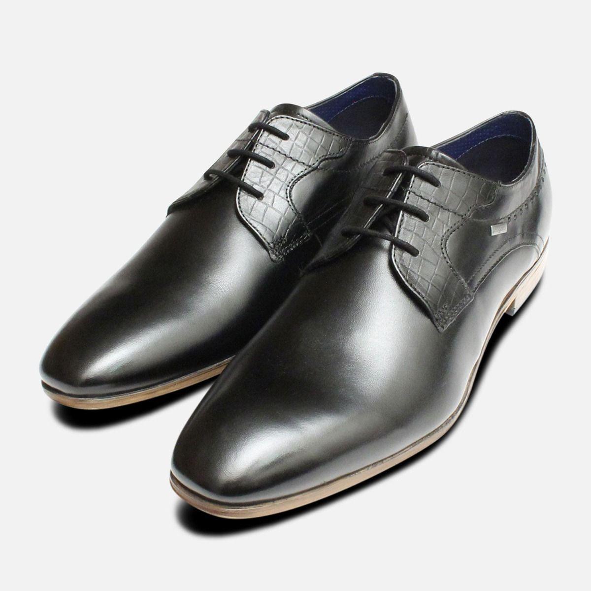 6233665152ef0 Formal Black Leather Dress Shoes by Bugatti
