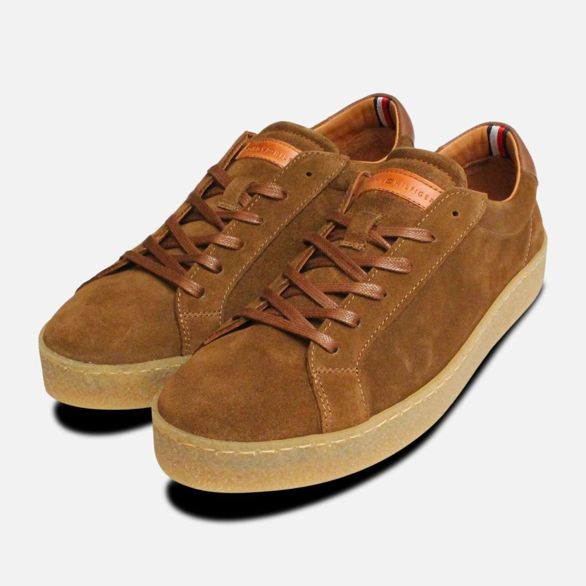 29a204513c6 Tommy Hilfiger Luxury Tobacco Suede Cupsole Shoes