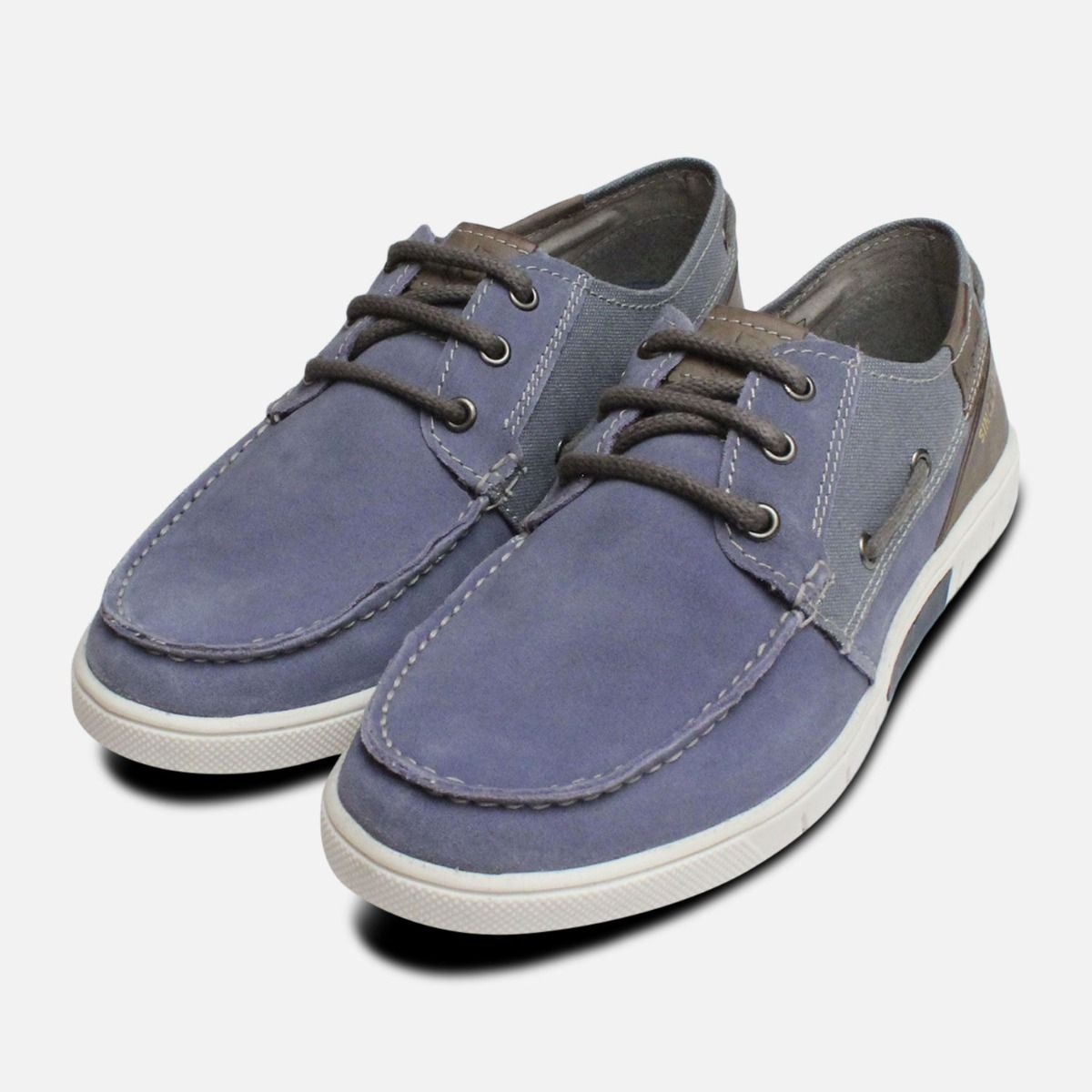 31595490bb8b4 Denim Blue Suede Boat Shoe by Bugatti
