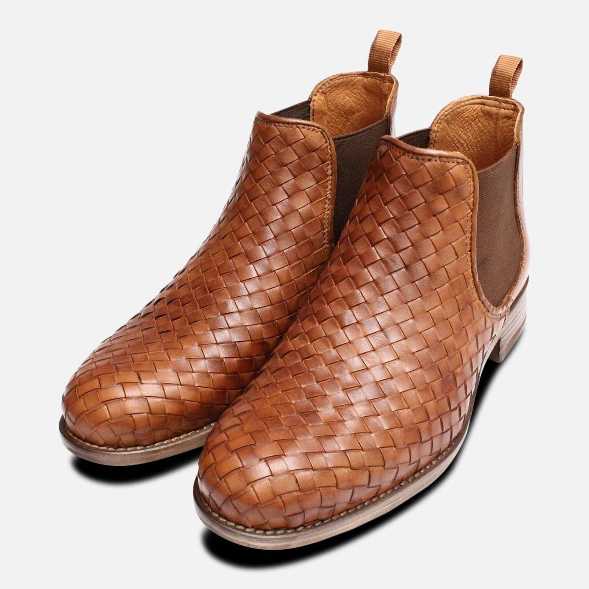 de5f0be215 Brown Weave Ladies Demi Chelsea Boots