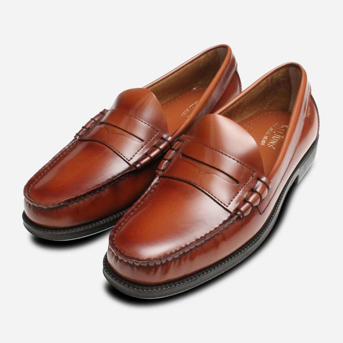 21d66782c85 Larson II Brown Penny Loafer Shoes by GH Bass Rubber Sole