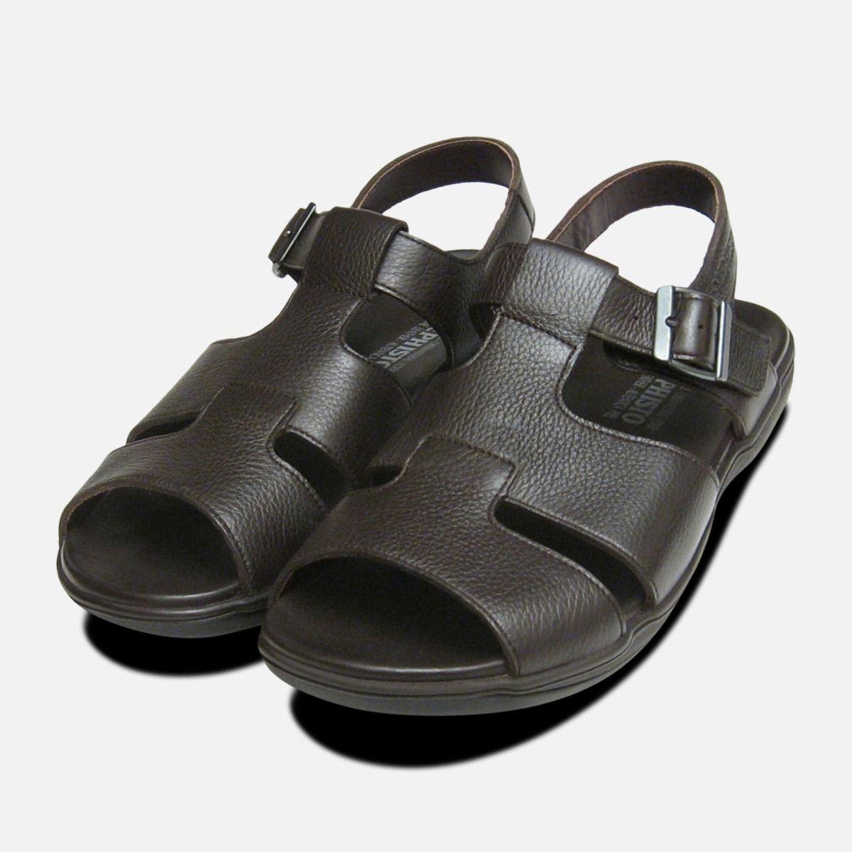 Dark Sacco Mens Mephisto Brown Sandals wOPvmNny08