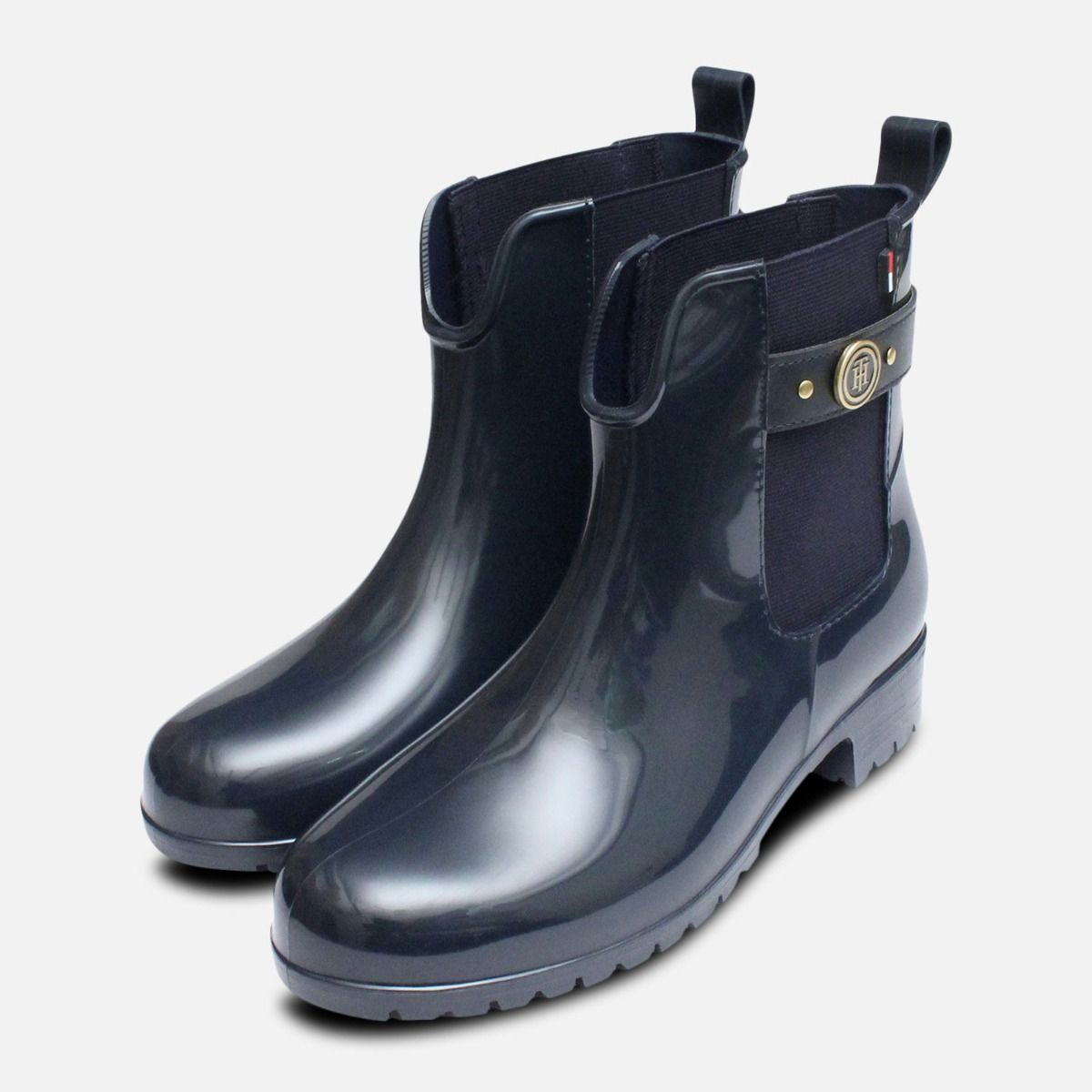 b0c2ac6f8eba83 Navy Blue Oxley Tommy Hilfiger Ladies Rubber Wellies