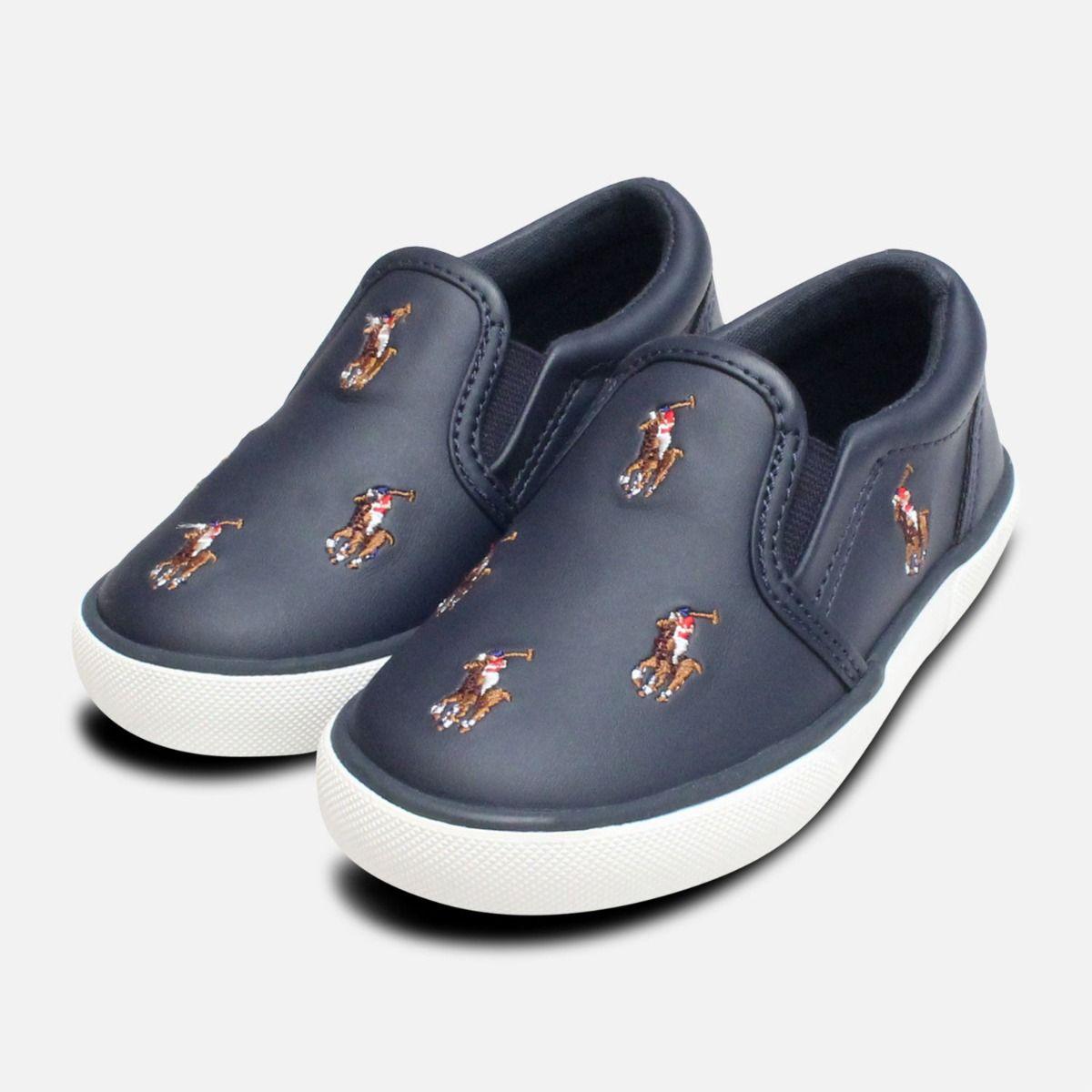 Childrens Shoe Navy Lauren Bal Polo Blue Harbour Ralph 1cFKJl