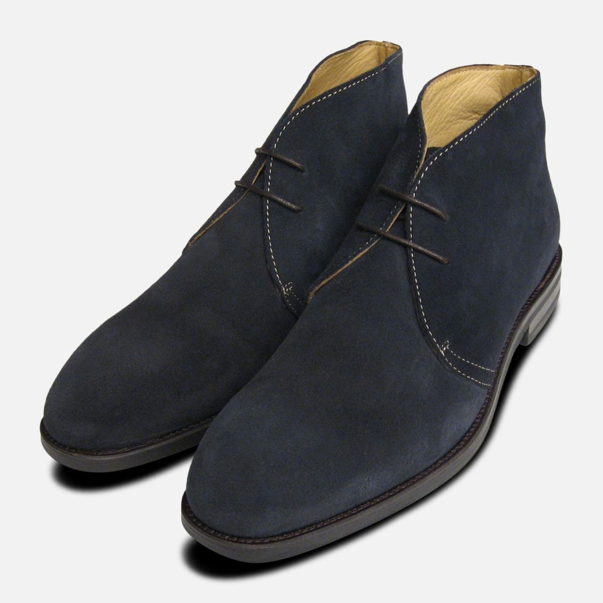 official huge inventory outlet store Navy Blue Suede Westbury 3 Chukka Boots