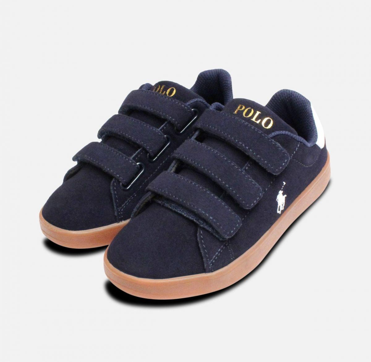 f81c2f7b1f Classic Navy Blue Suede Ralph Lauren Quincey Shoes