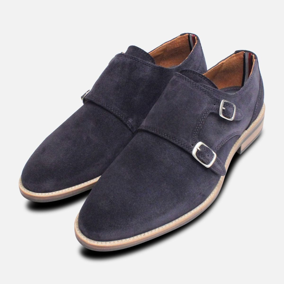 14344e29b772 Monk Strap Tommy Hilfiger Shoes in Navy Blue Suede