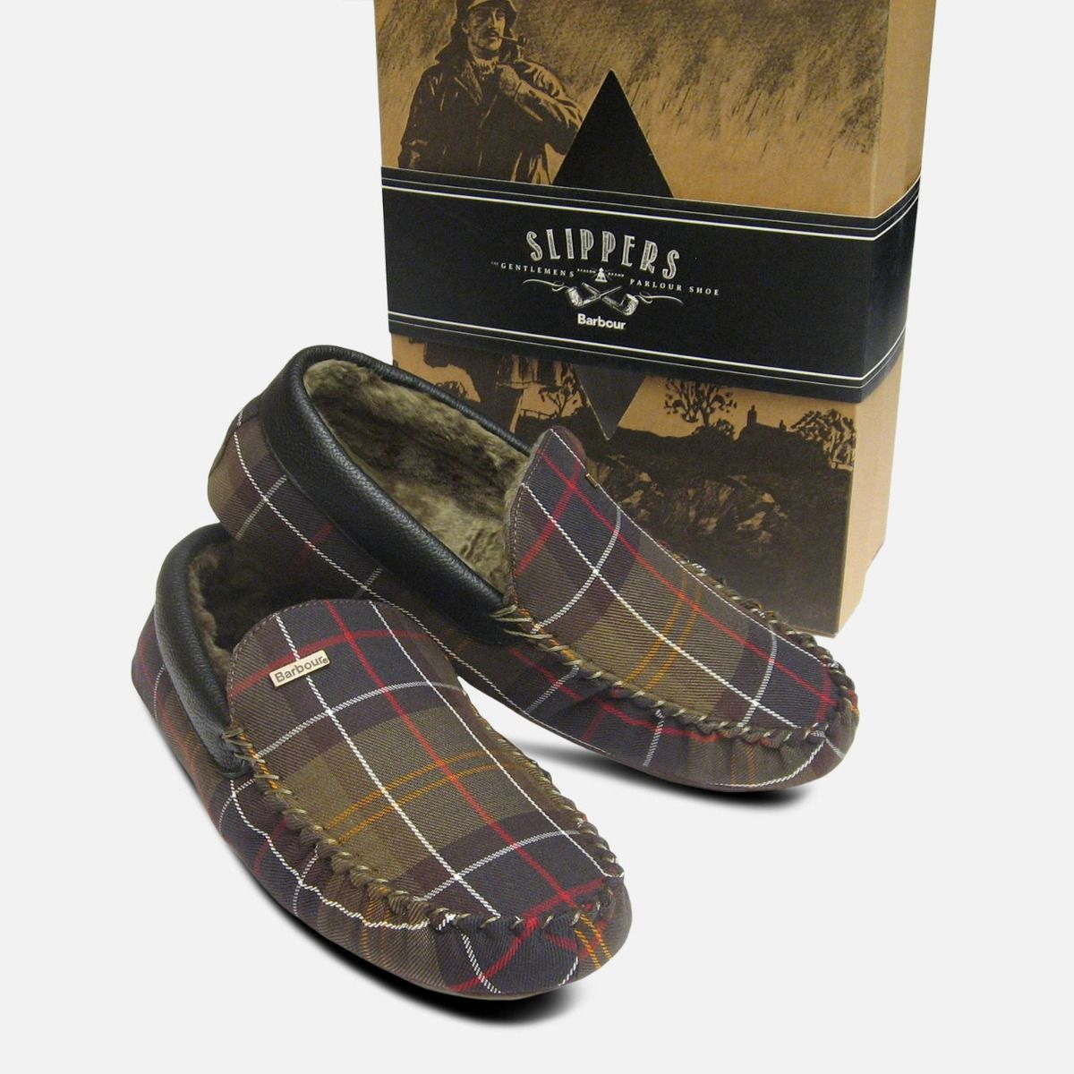 1223bd53874f Barbour Monty Classic Tartan Warm Mens Slippers