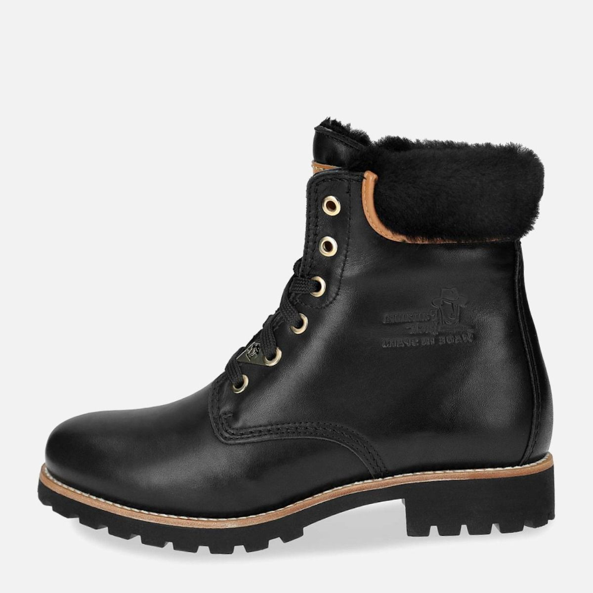 order 100% top quality fashion Panama Jack 03 Igloo Travelling Boots in Black Leather