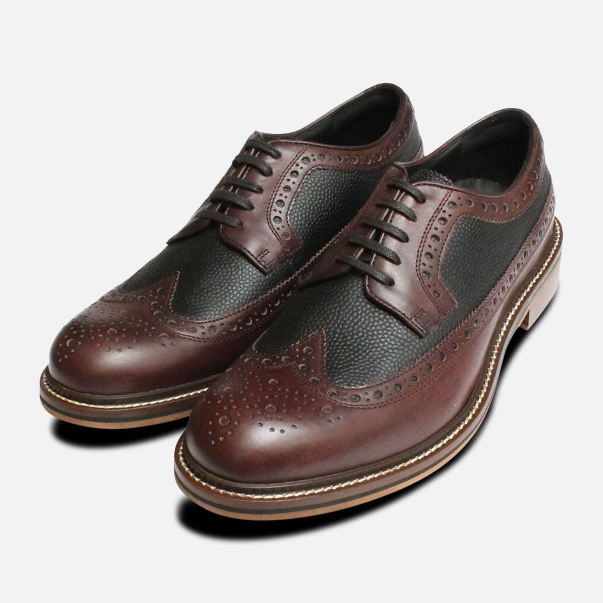 good service outlet store well known Thomas Partridge Two Tone Brown Wingtip Brogues