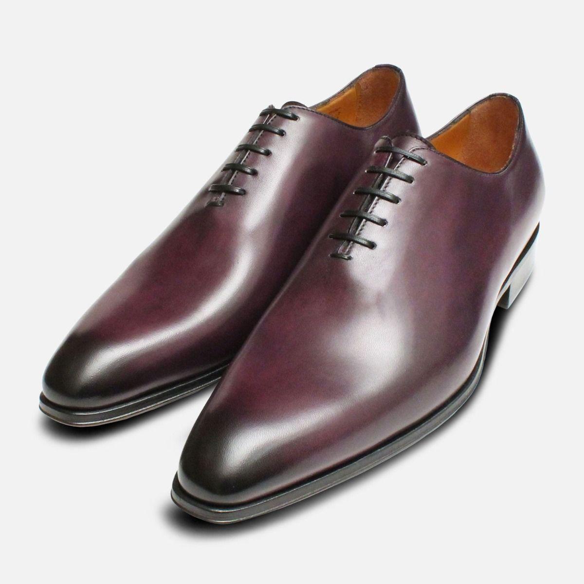 da5883fc734d Aubergine Purple Mens Wholecut Oxford Shoes