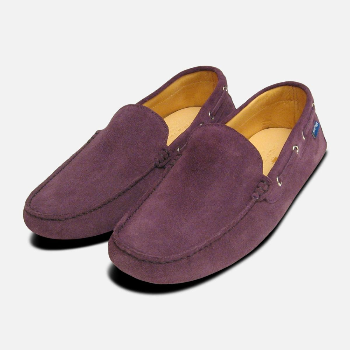 d9909bbbac5 Mens Purple Suede Driving Shoes by Arthur Knight