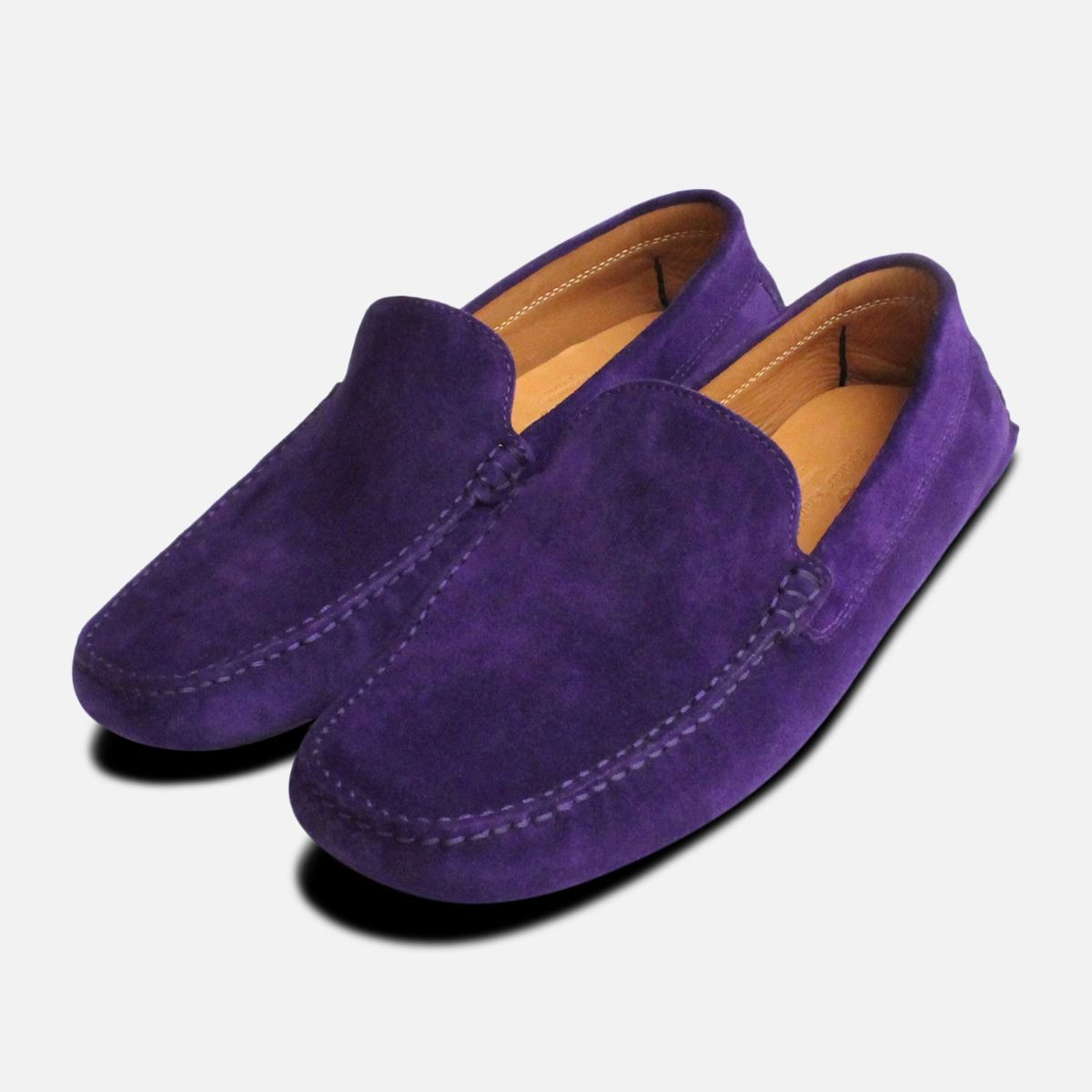 ac465632b29 Deep Purple Italian Moccasins by Arthur Knight Shoes
