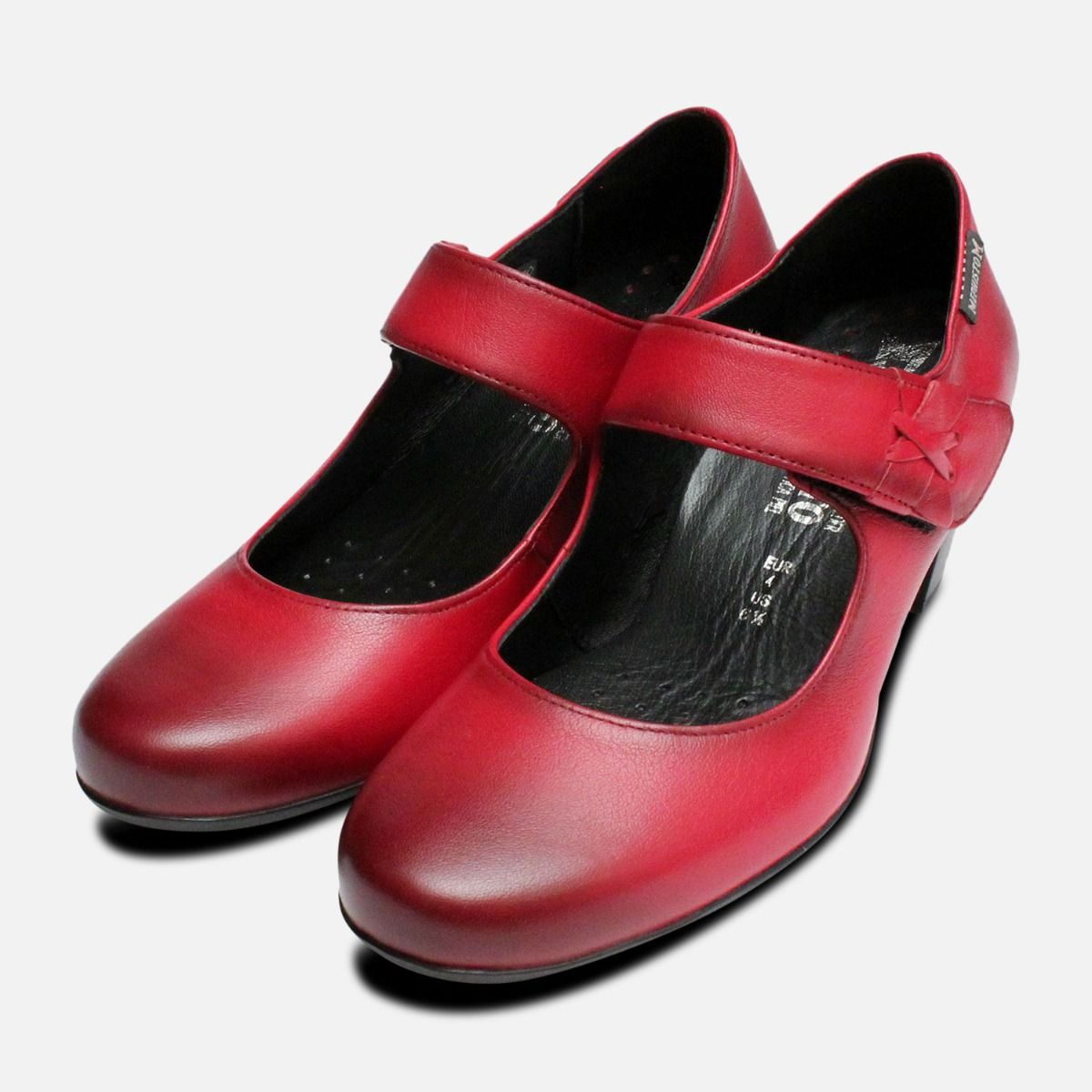 cdcb638da9 Mephisto Madisson Mary Jane Shoes in Red
