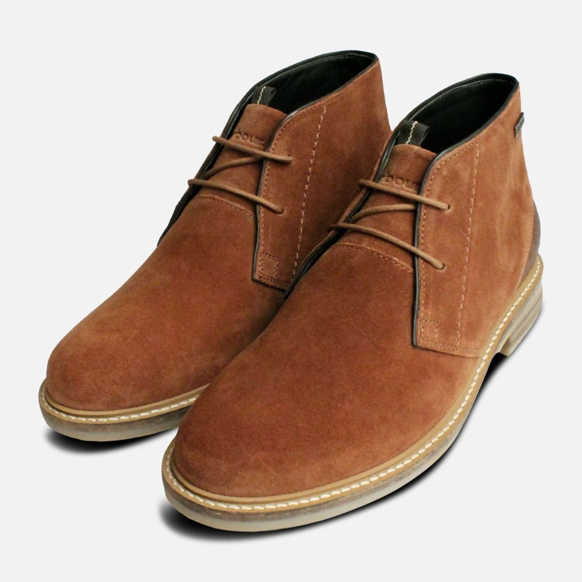 4e8a5c9ed4f Rust Suede Barbour Mens Chukka Boots