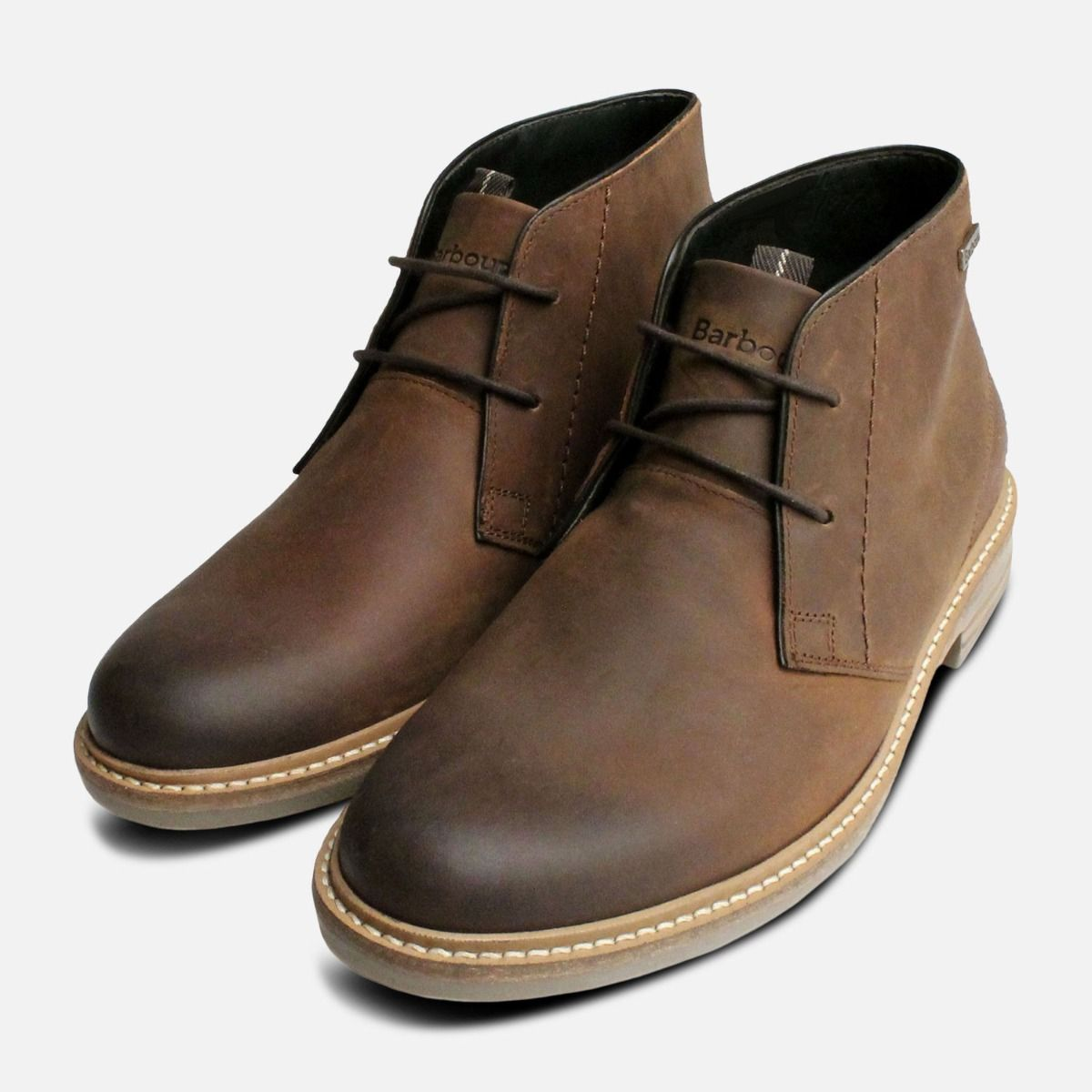 ec7b5374dc8 Brown Waxy Barbour Chukka Boots