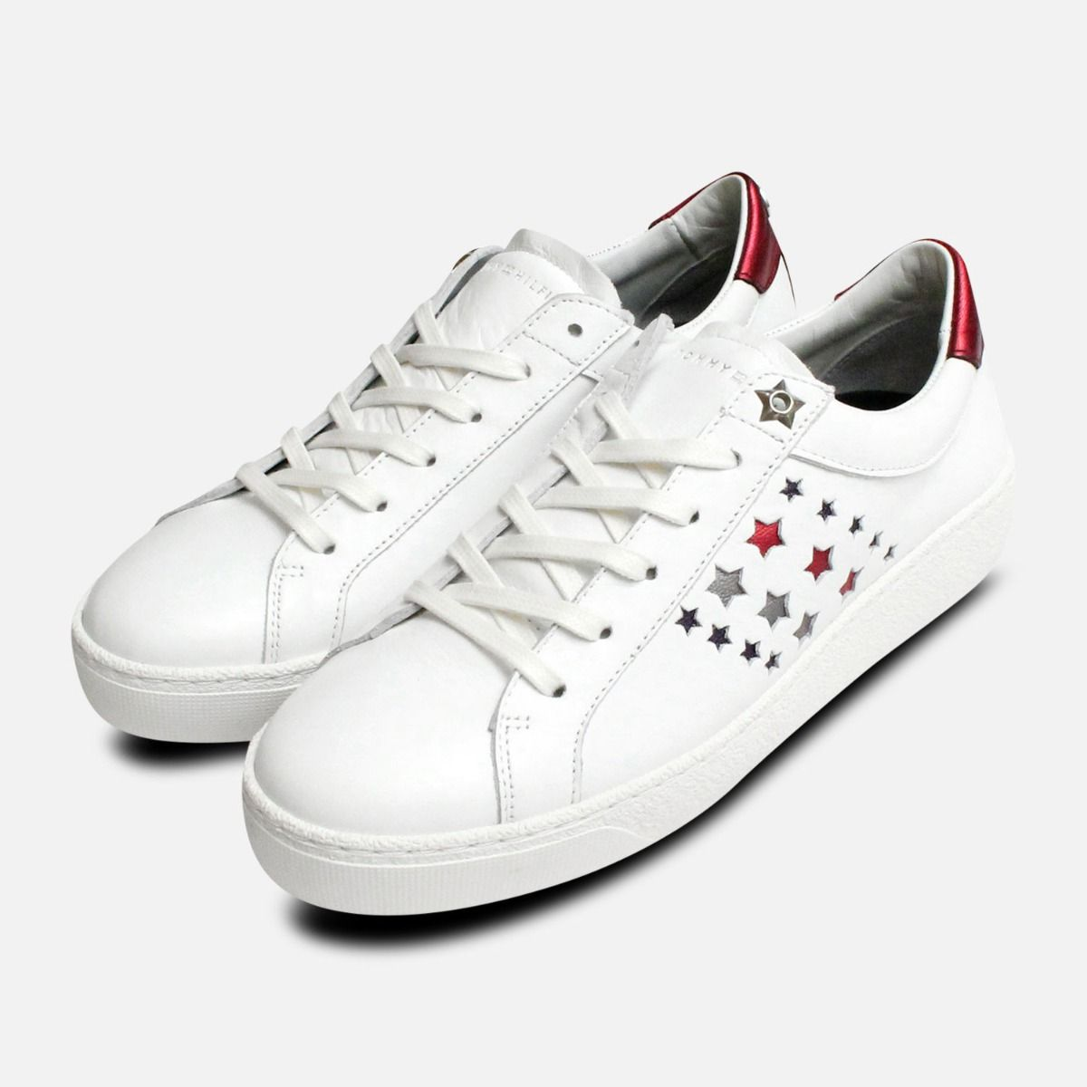fd863c2fa8 Tommy Hilfiger Star Suzie Trainers in White Leather