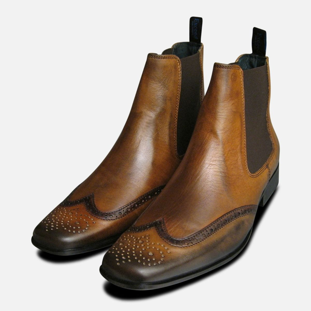 6e008d6411f Tan Leather Mens Chelsea Boots by Exceed