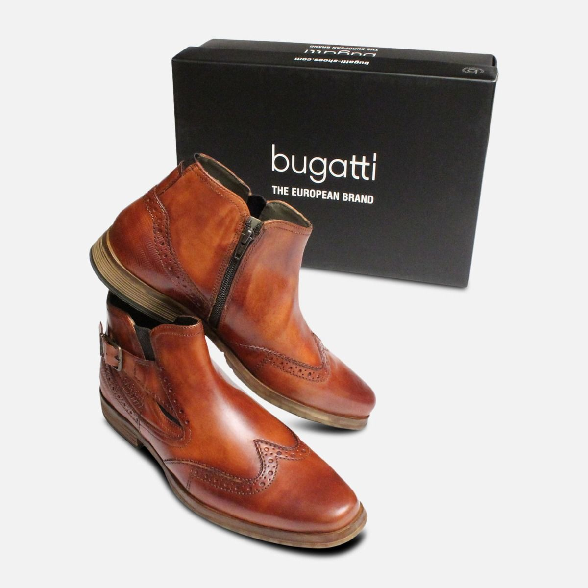 coupon code 2018 sneakers ever popular Regent Demi Boots in Antique Tan by Bugatti Shoes