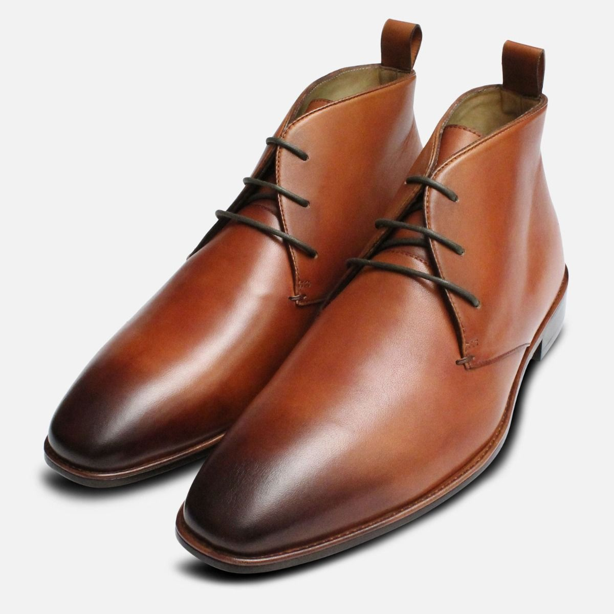 b1707dc2979 Tan Leather Chukka Boots for Men