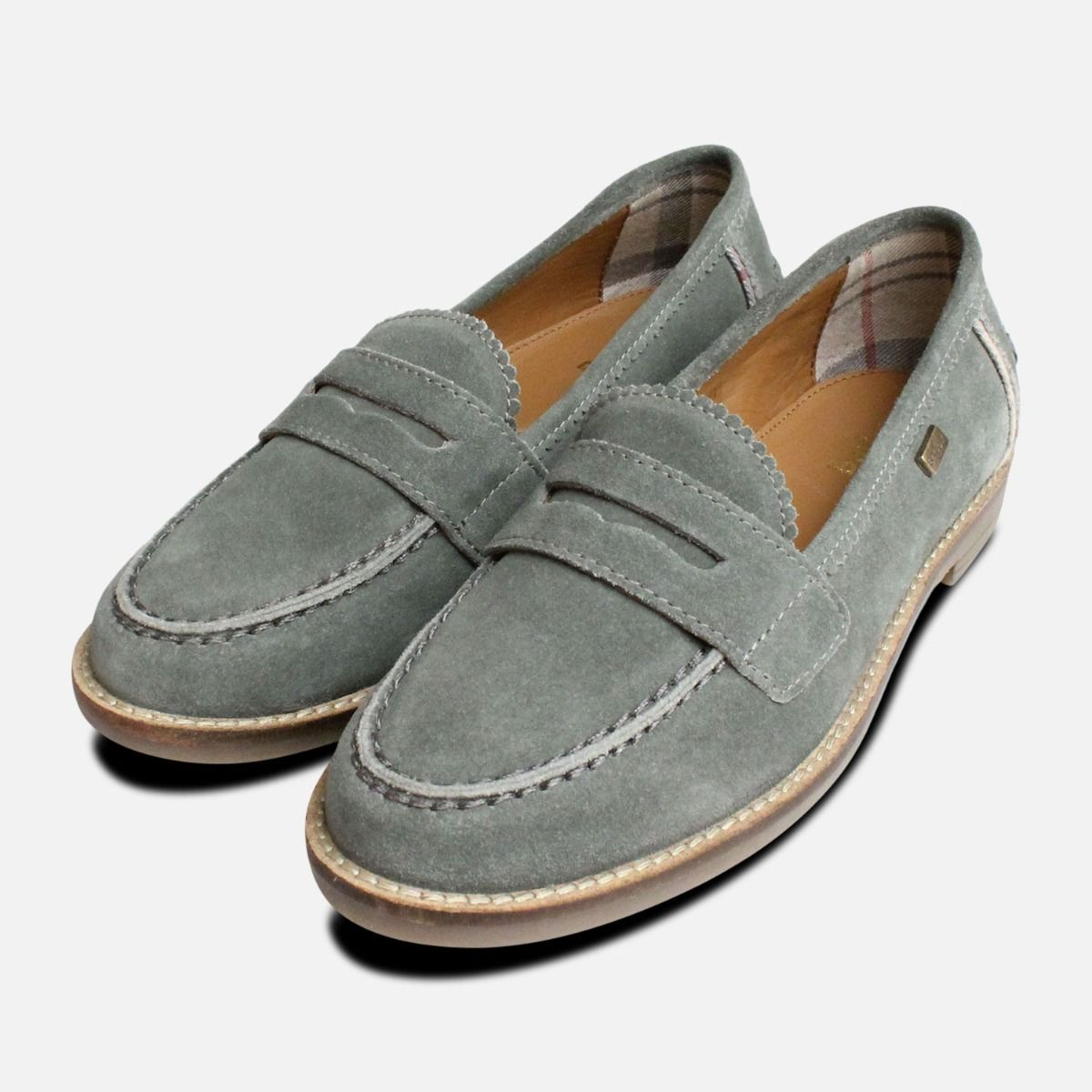 8be8f6efcdf Barbour Briony College Loafer in Teal Suede