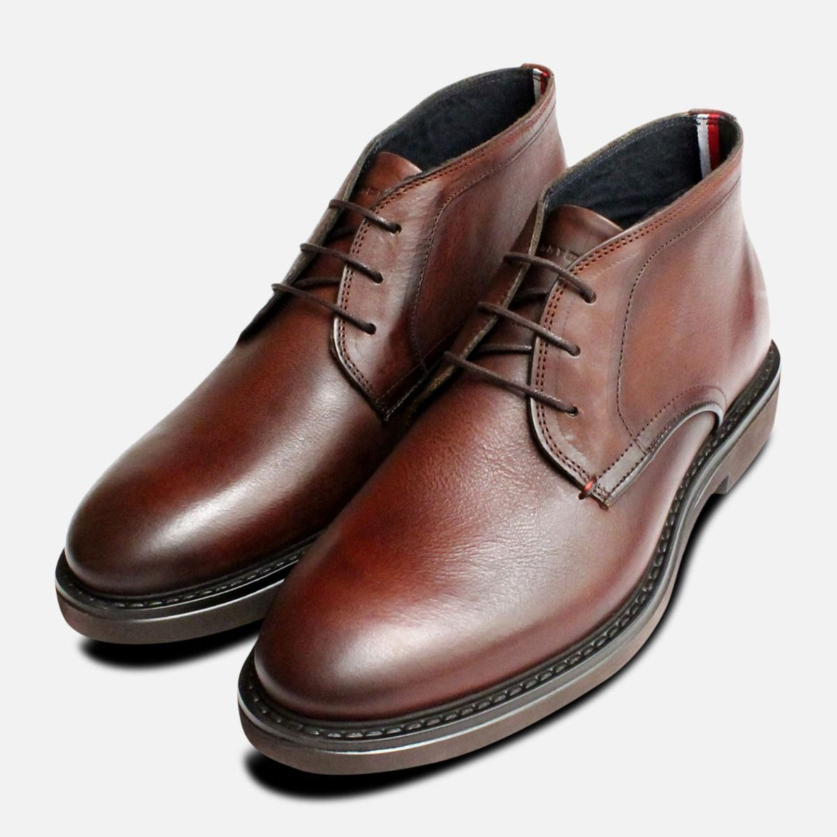 bfd0ca2d5 Tommy Hilfiger Luxury Brown Austin Chukka Boots