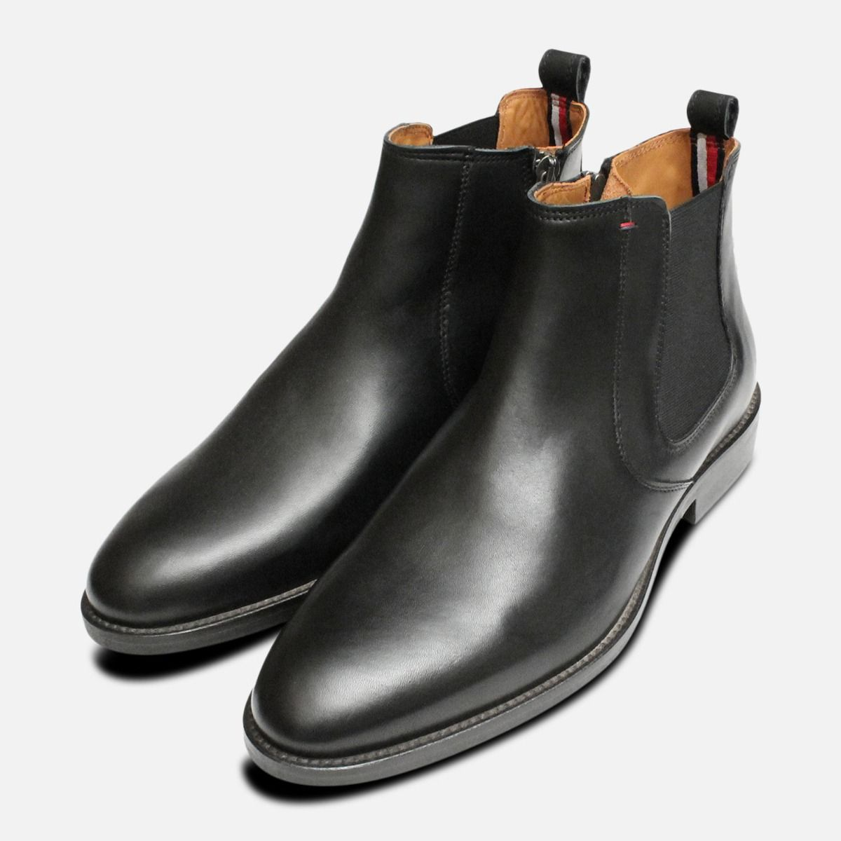b52d7549a0af8 Black Tommy Hilfiger Daytona Dress Chelsea Boots