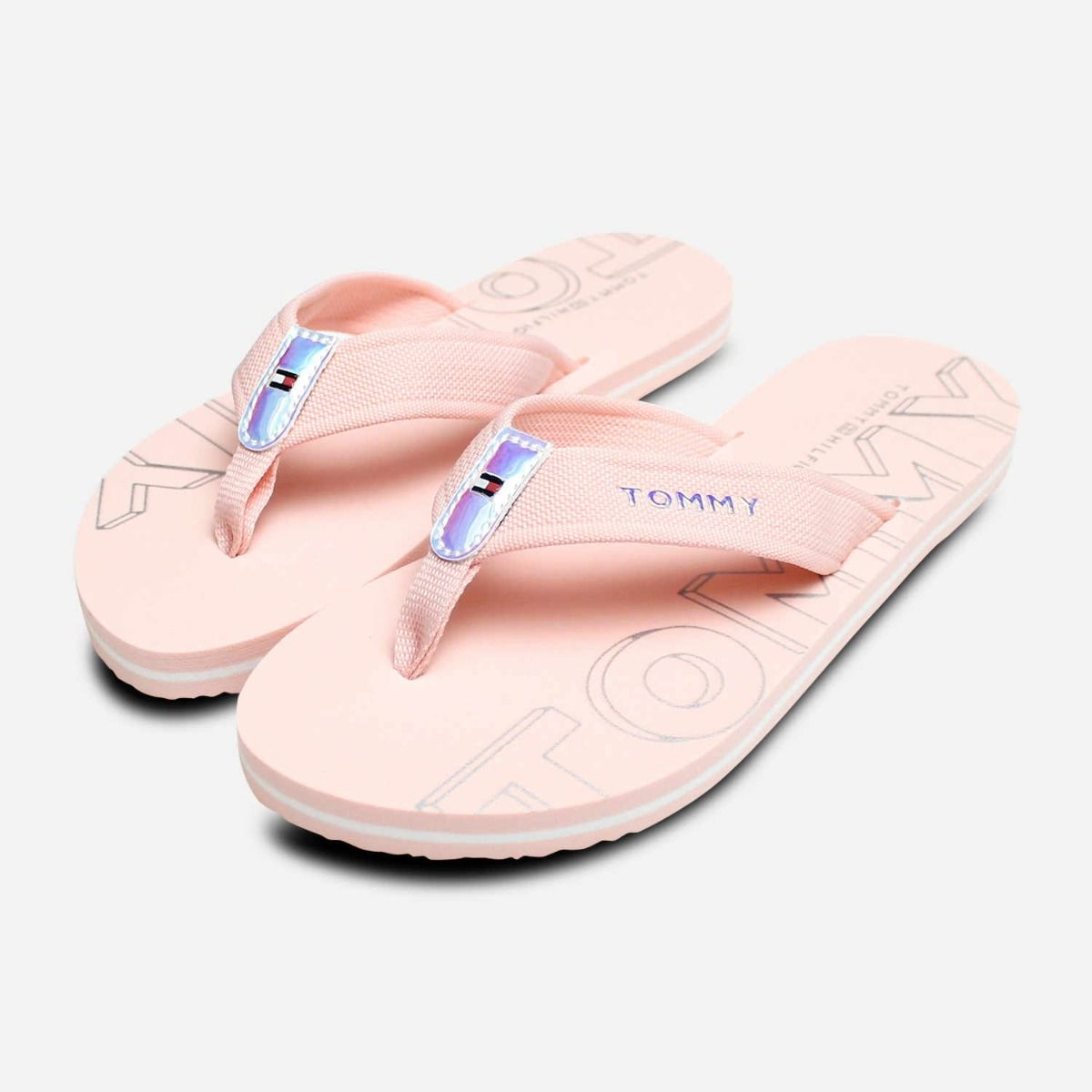 8fab0dbd Tommy Hilfiger Pink Iridescent Womens Flip Flop Sandal