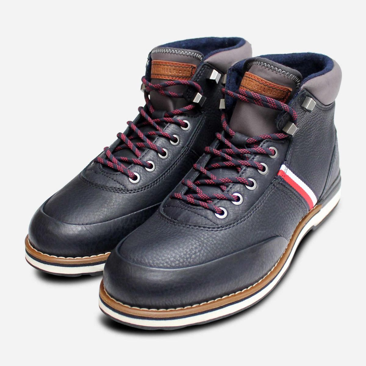 classic styles get cheap autumn shoes Tommy Hilfiger Luxury Mens Outdoor Boots in Navy Blue