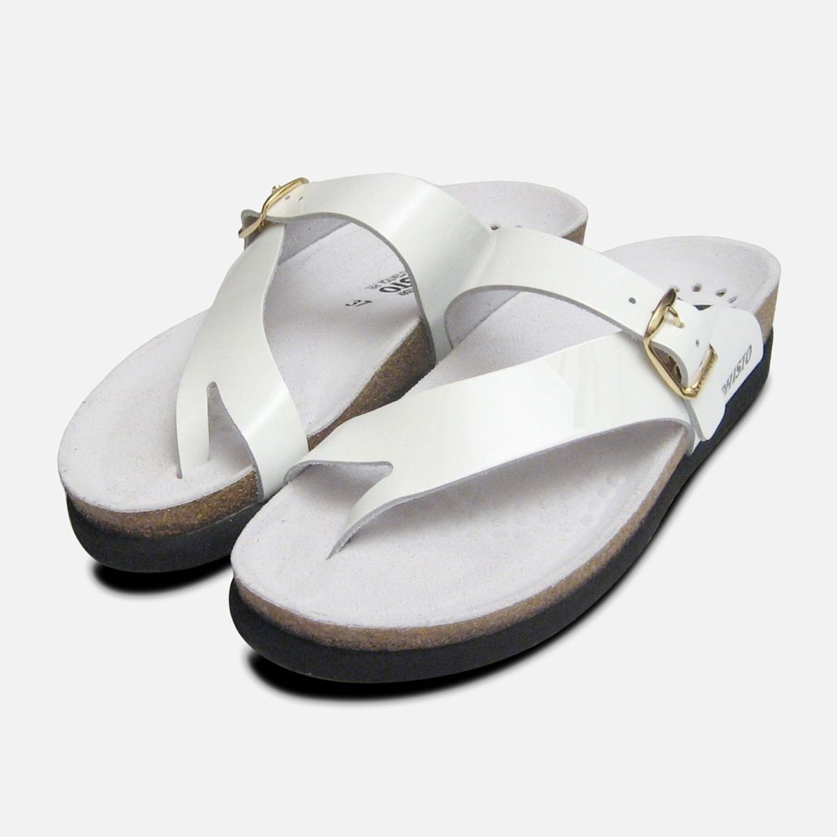 c30f4ab8184 Helen in White Patent Mephisto Sandals