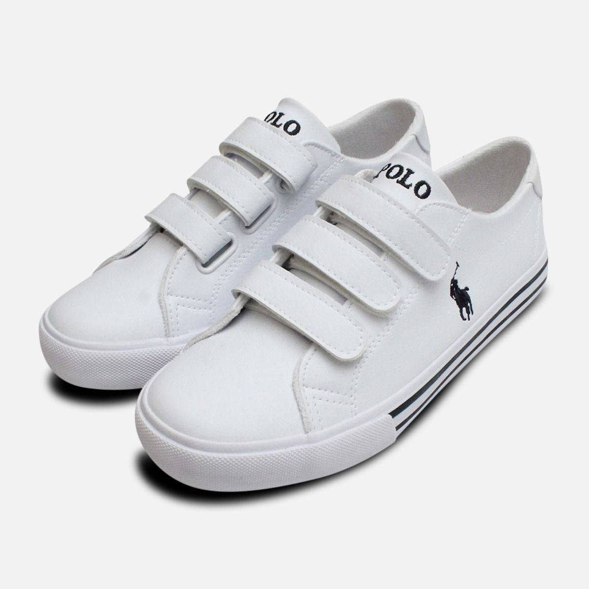 0bb9c70ac20a White Ralph Lauren Polo Slater EZ Kids Shoes