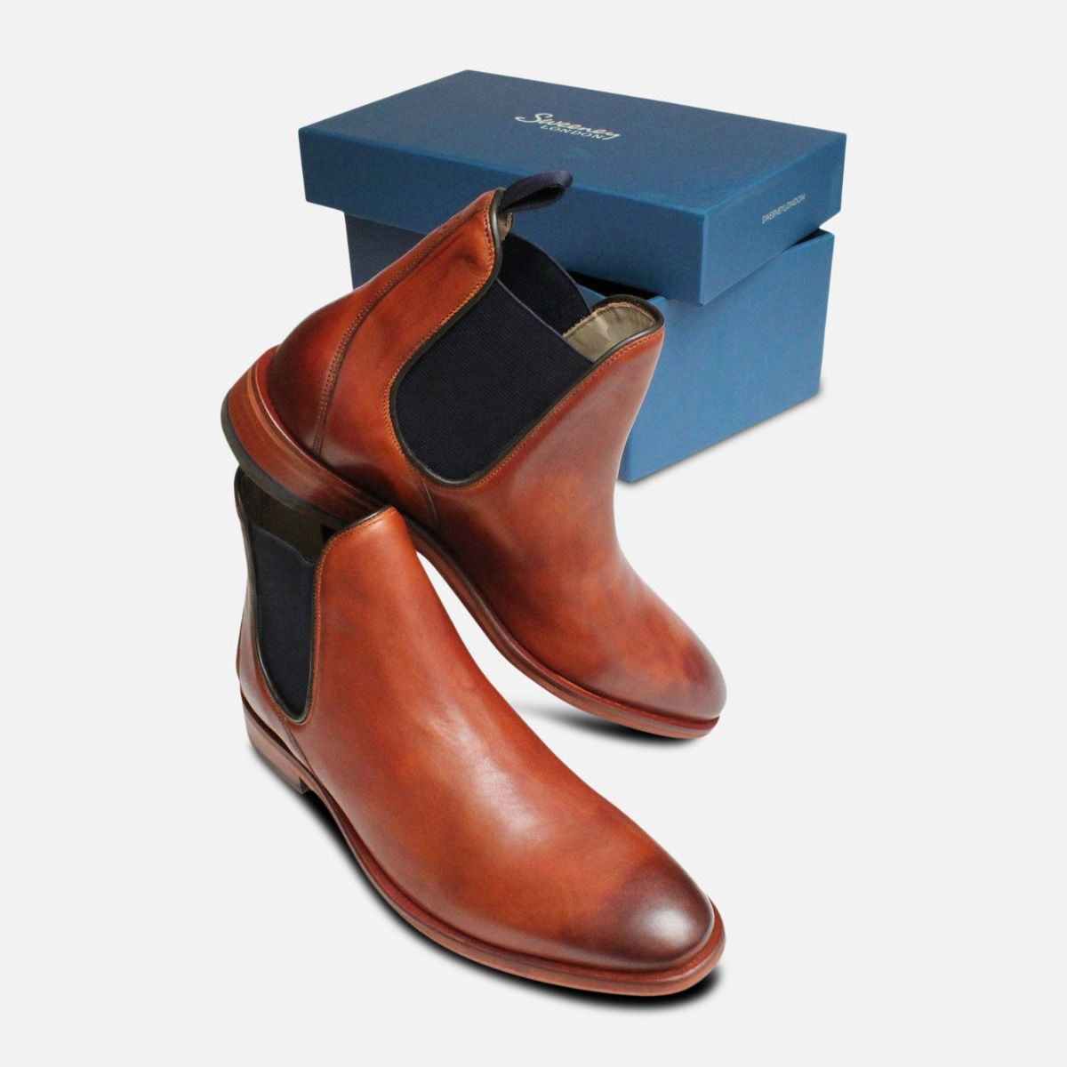 Burnished Chelsea Boots Allegro Tan by