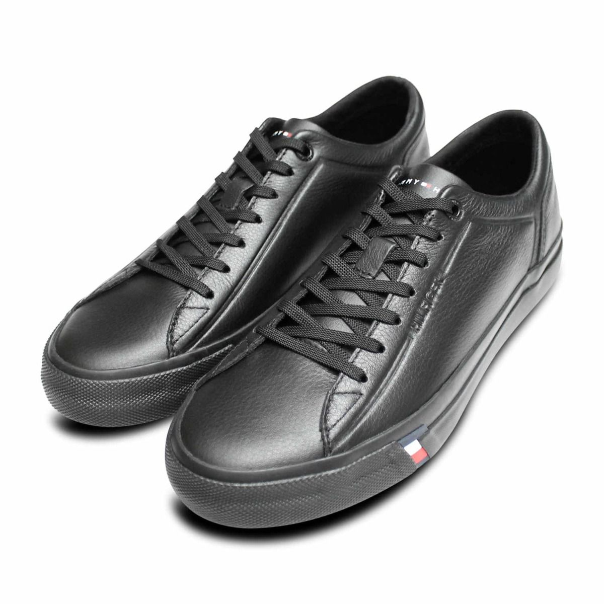 Premium Black Leather Lace Up Tommy