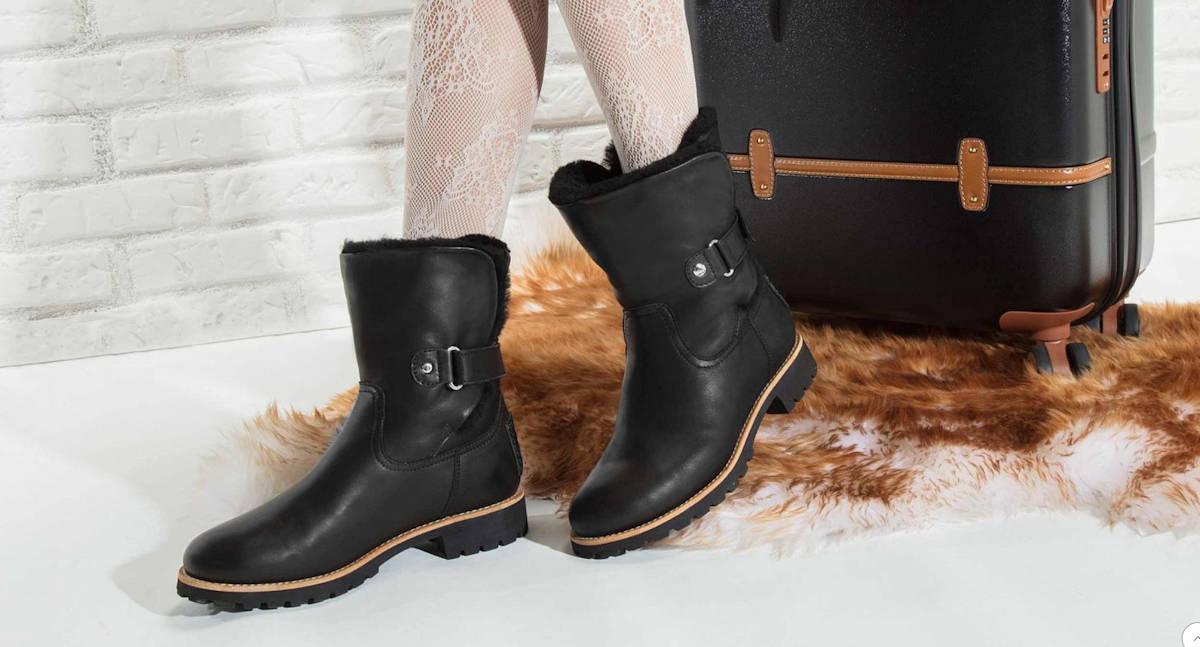 Luxury Black Panama Jack Felia Boots with Fur Lining