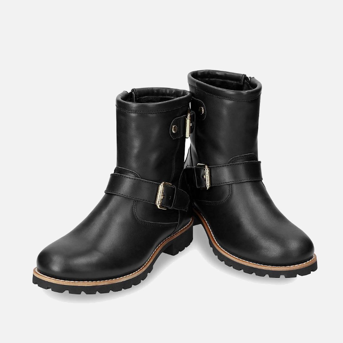 New Panama Jack Black Felina B3 Igloo Buckle Boot