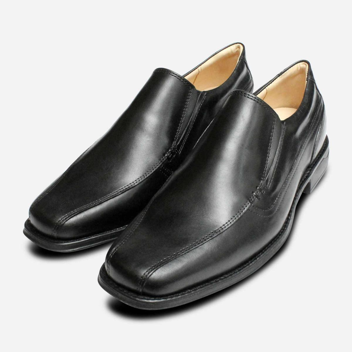 Detalles de Punta Cuadrada Mocasines de Vestir en Negro por Anatomic Zapatos