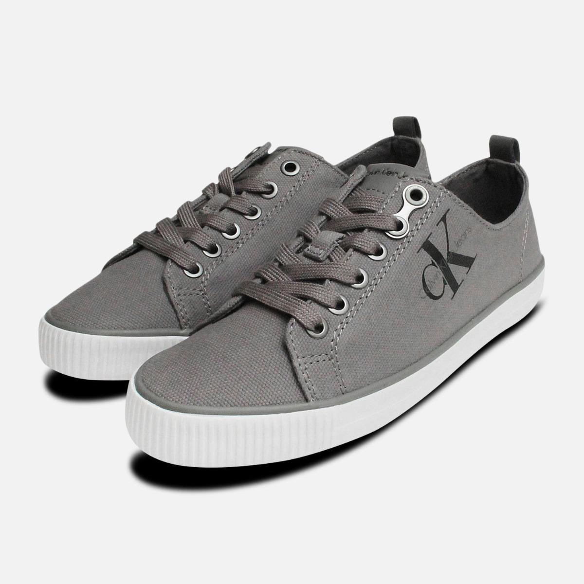 Grey Canvas Dora Sneakers by Calvin