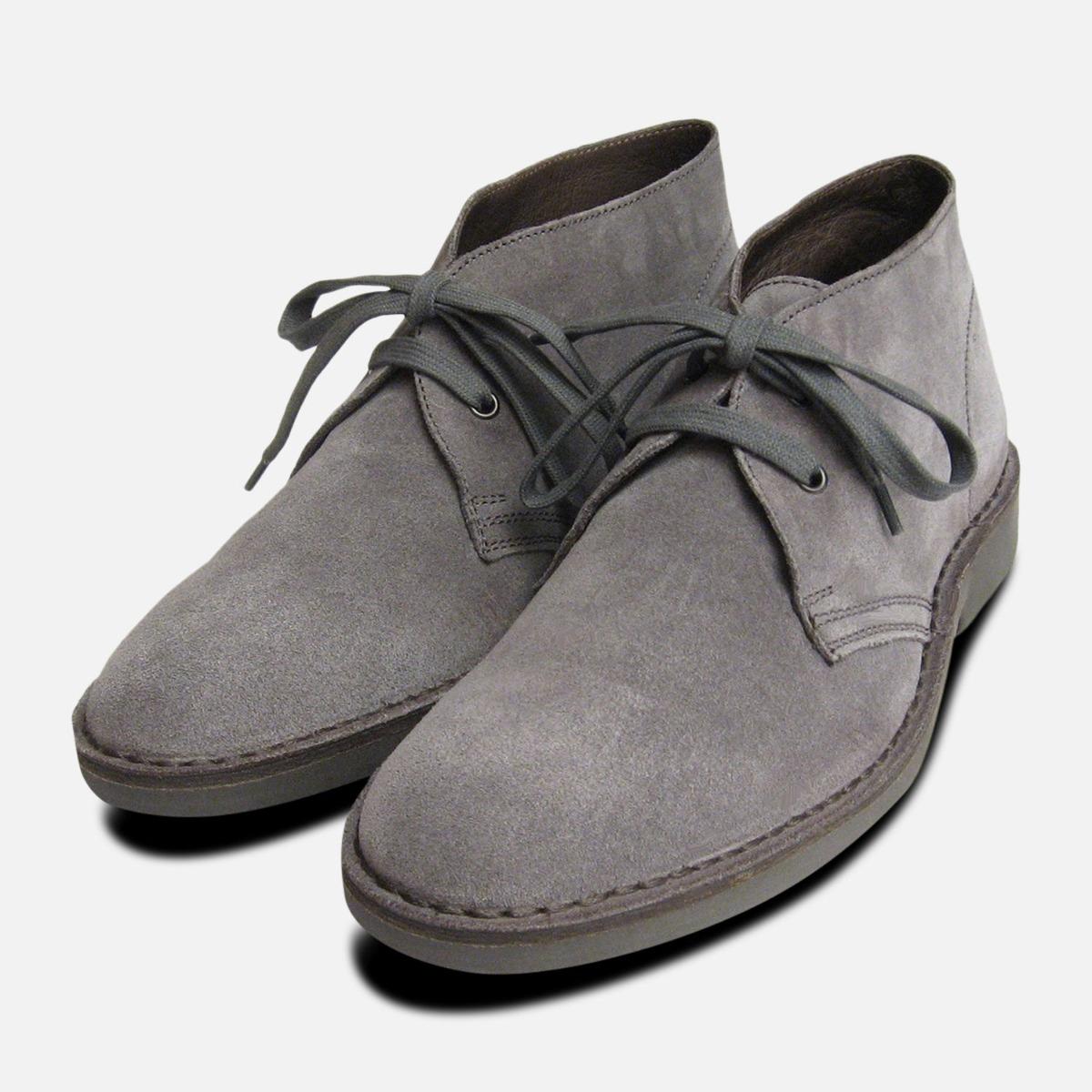 Ash grau Suede Mens Designer Italian Desert Stiefel by Arthur Knight schuhe