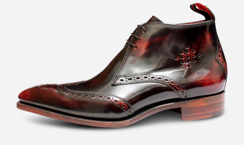Jeffery West Brandy Polished Diamond Mens Chukka Boots