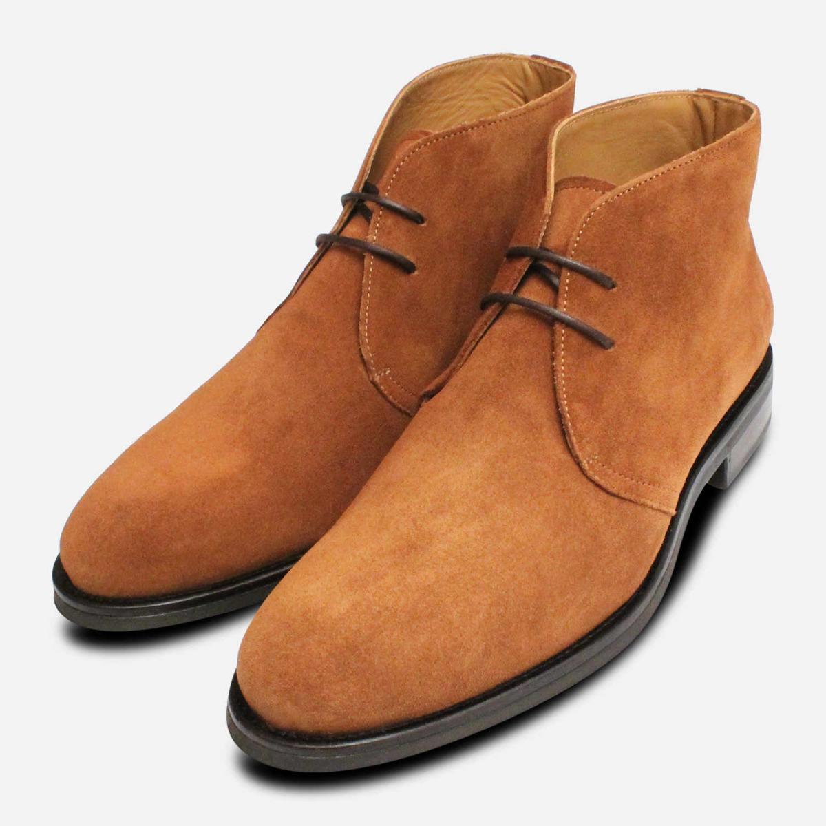 28ba19a189f Cognac Suede Westbury 5 John White Ankle Boots | eBay