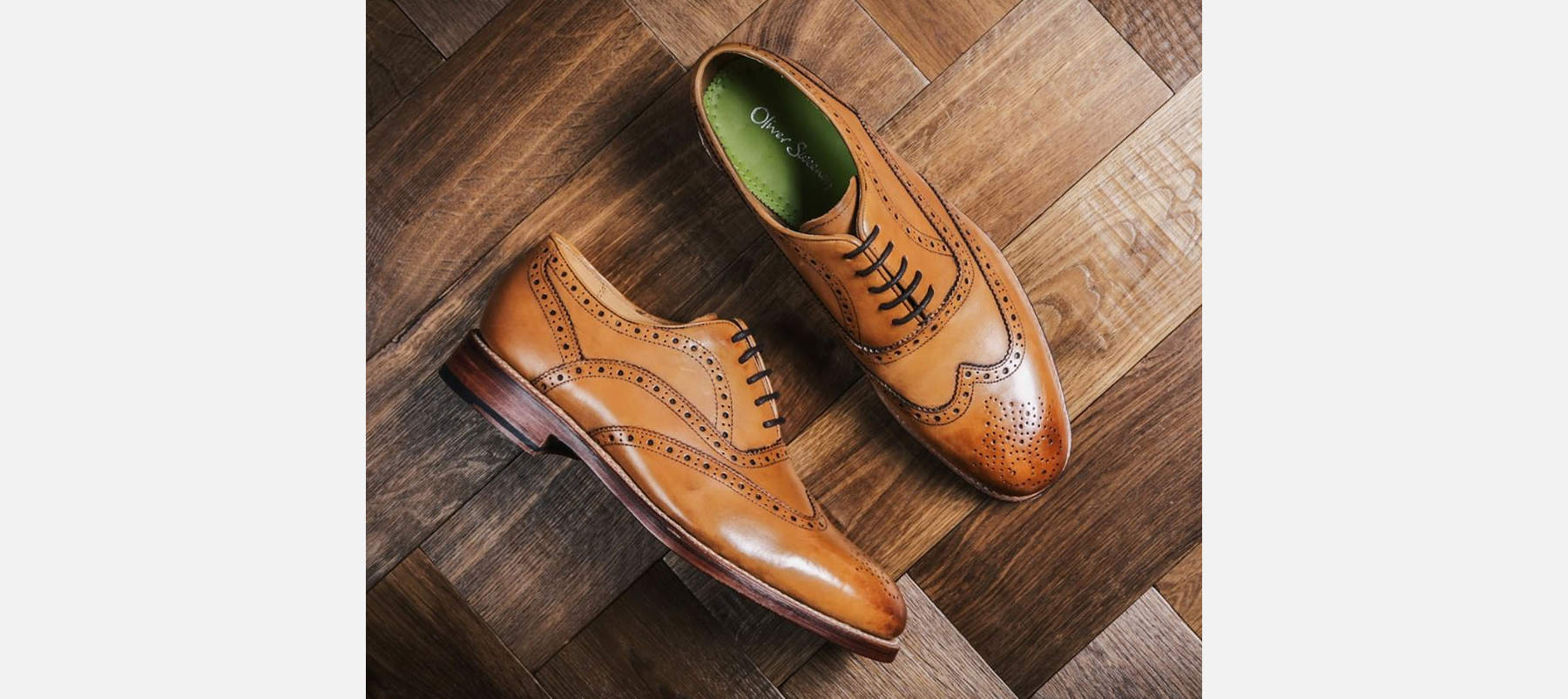 Oliver Sweeney Wingcap Oxford Brogues in Tan