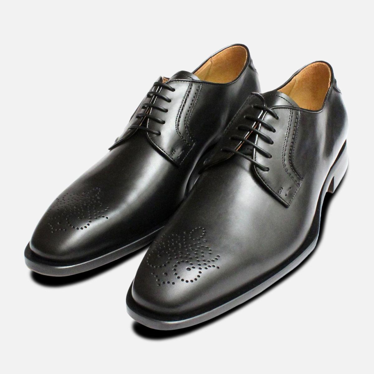 Shoes Black Italian Cozzi Brogues
