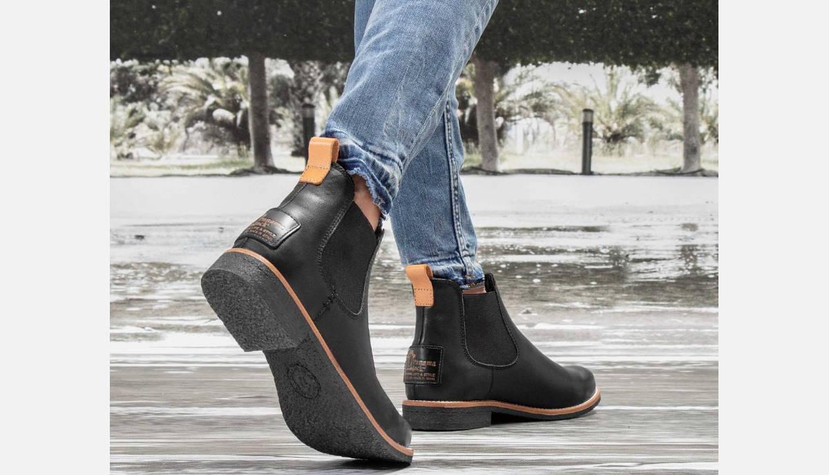 Panama Jack Black Giordana Fur Lined Slip On Boots